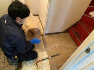 階段下でお亡くなりになっておられた特殊清掃現場